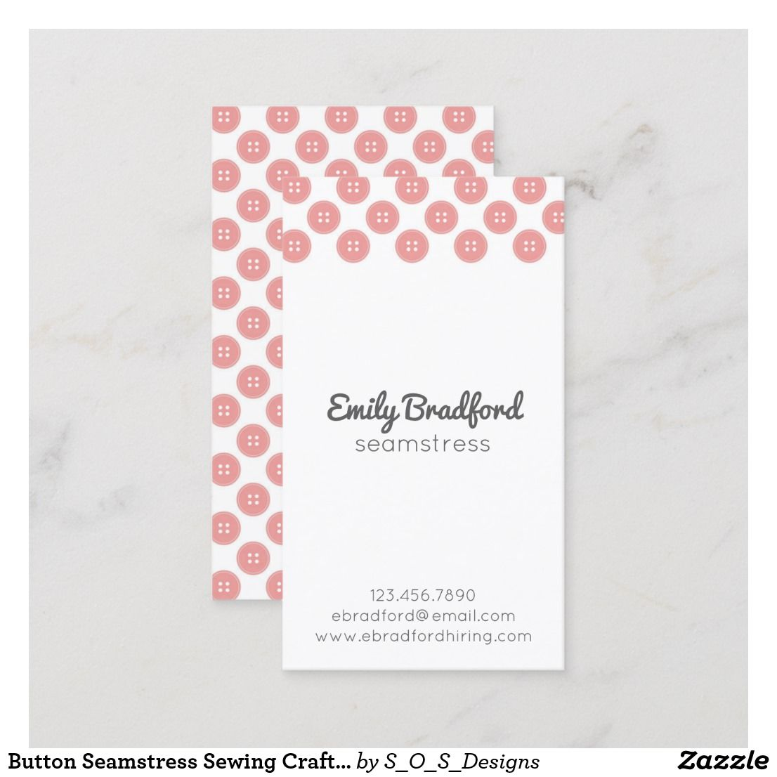 Button Seamstress Sewing Crafter Business Cards Zazzle Com Scrapbooking Business Sewing Business Cards