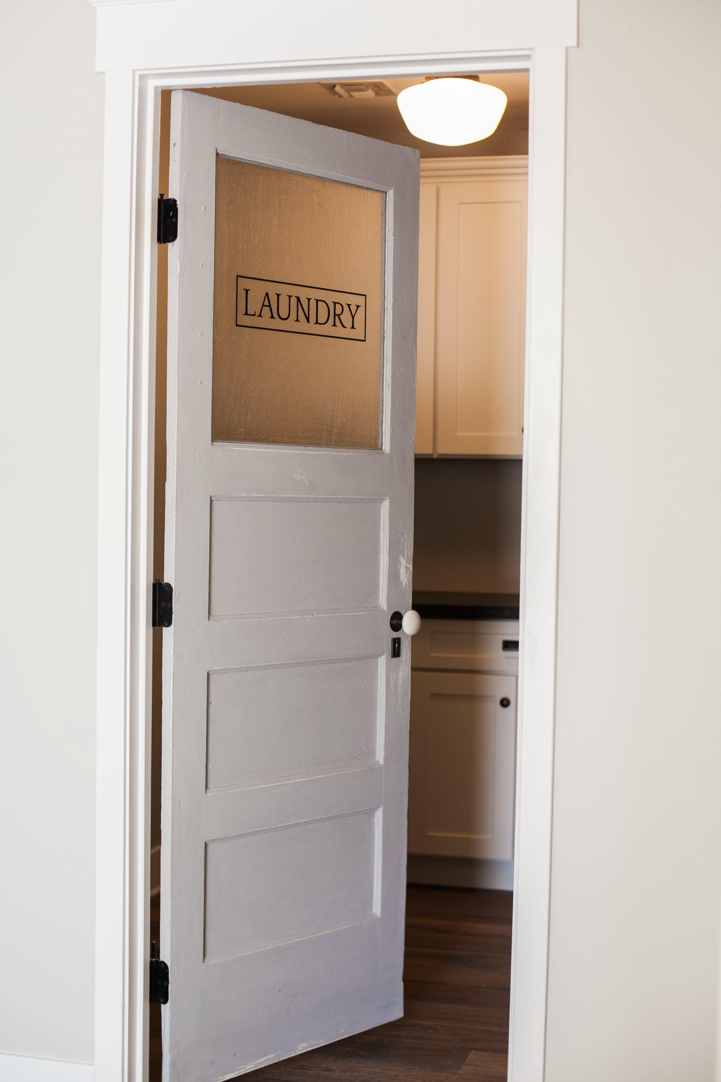 Signature laundry door by Rafterhouse. … Laundry doors