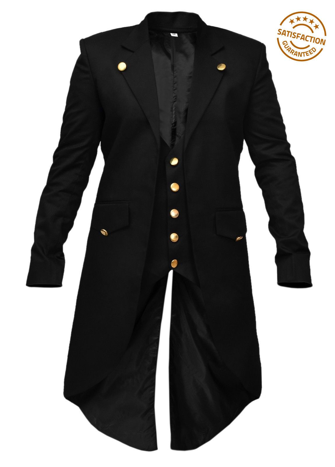 a040b1094f1 New Stock Mens Banned Steampunk Tailcoat Jacket Black Gothic Victorian Coat