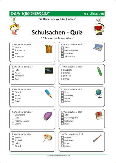 schulsachen  quiz für kinder für kinder von 69  quiz