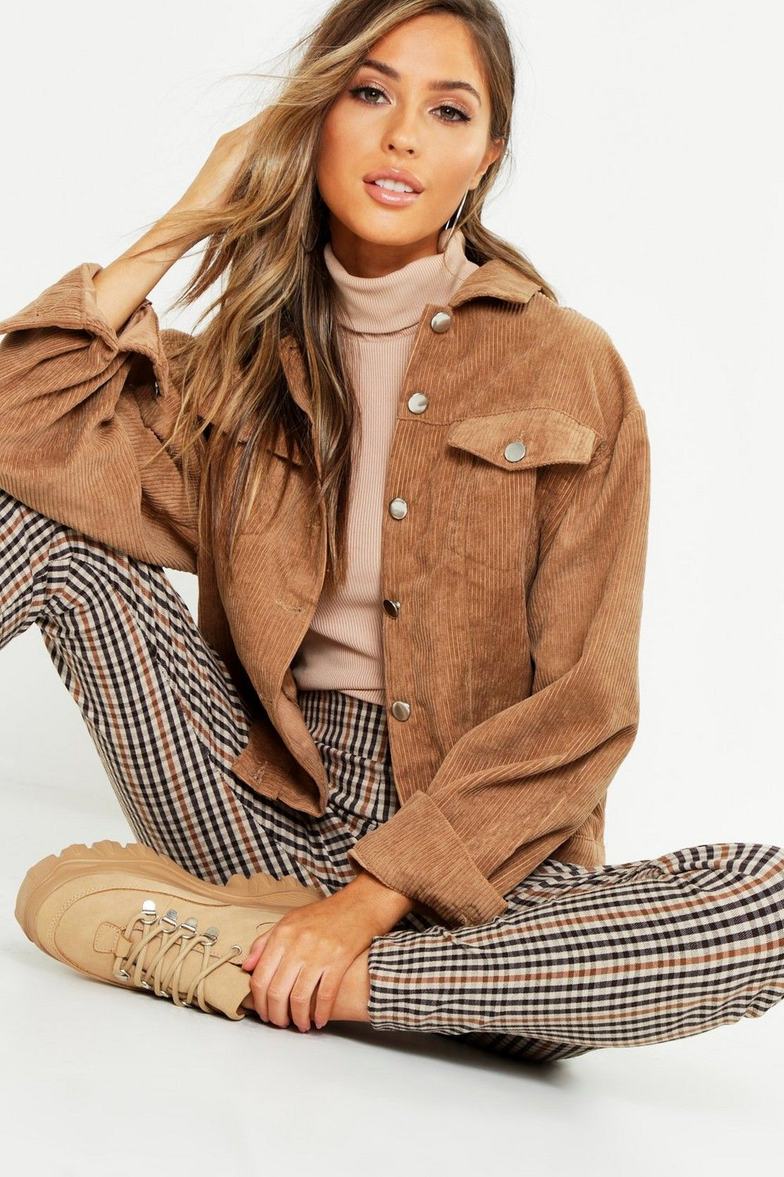 Photo of Oversize Cord Jacket | boohoo