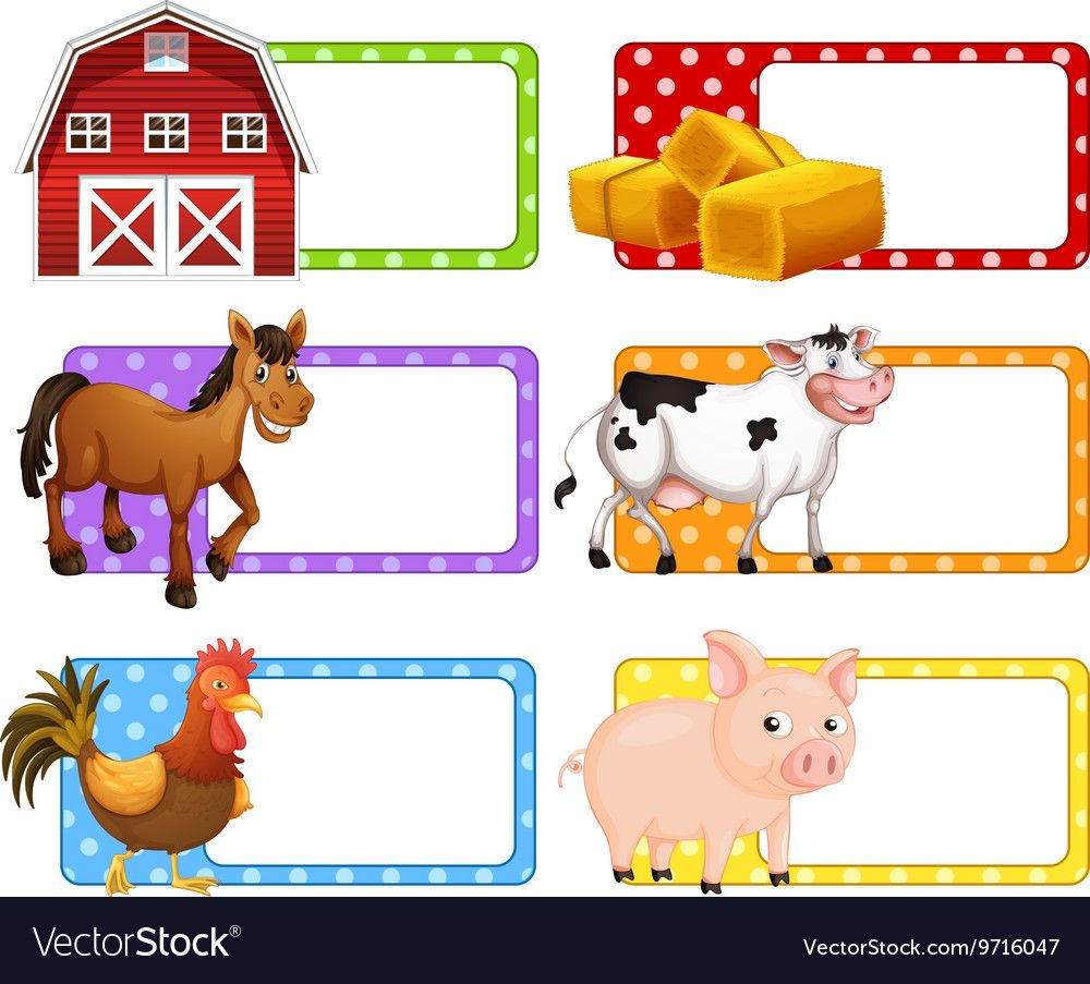 45+ Animals Clipart Name Labe