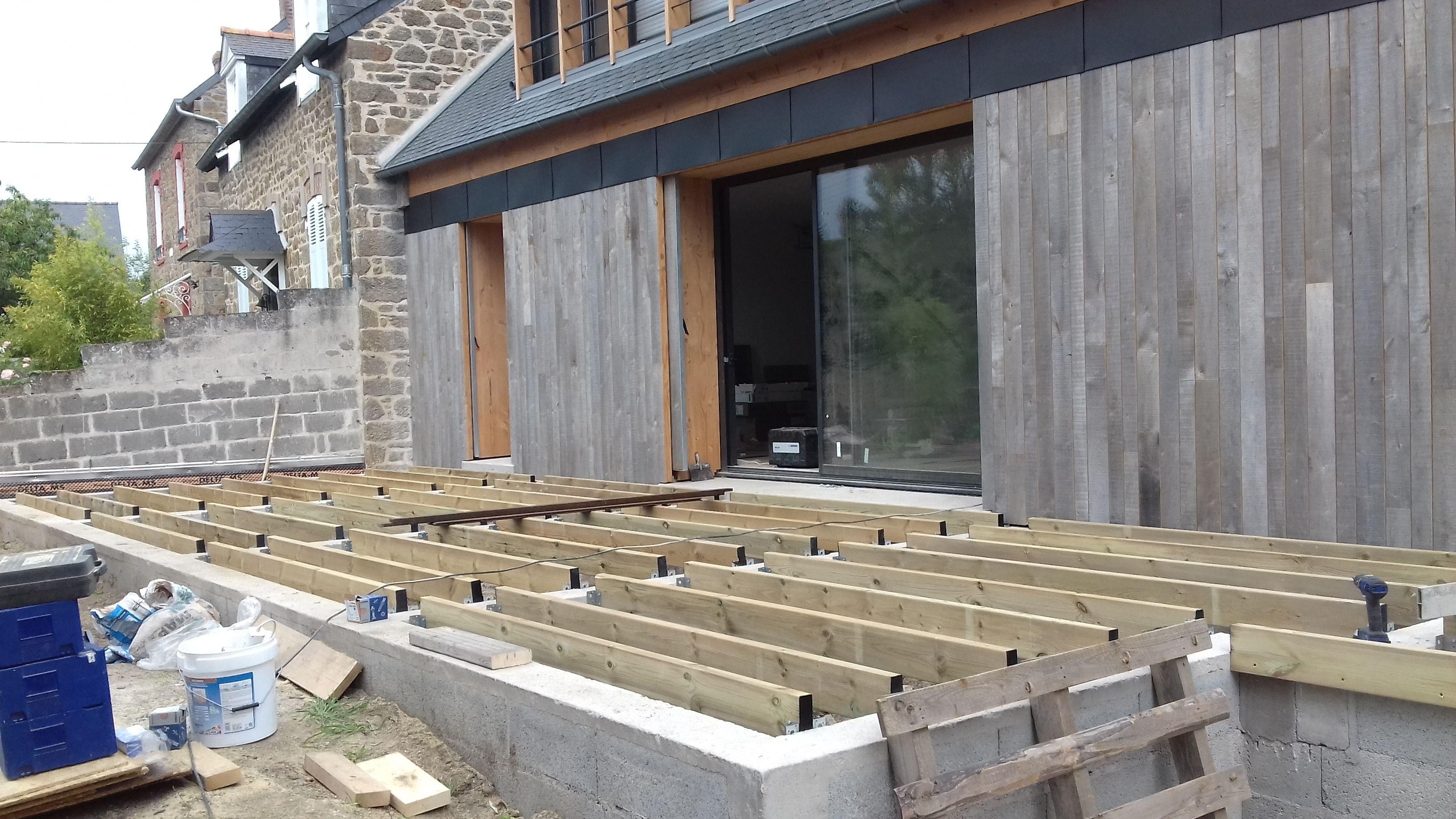 Vente U0026 Pose Du0027une Terrasse MOSO Bamboo Xtreme En BAMBOU Densifié  Comprenant La Mise En Place Du0027une Ossature Bois Composée De Bastaings Sur  Un Mur En ...