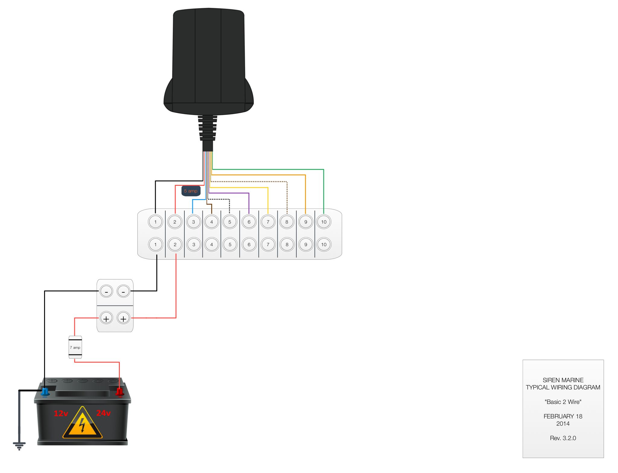 This Is A Basic 2 Wire Pixie Or Sprite Wiring Diagram With Just Two Street Light Wires