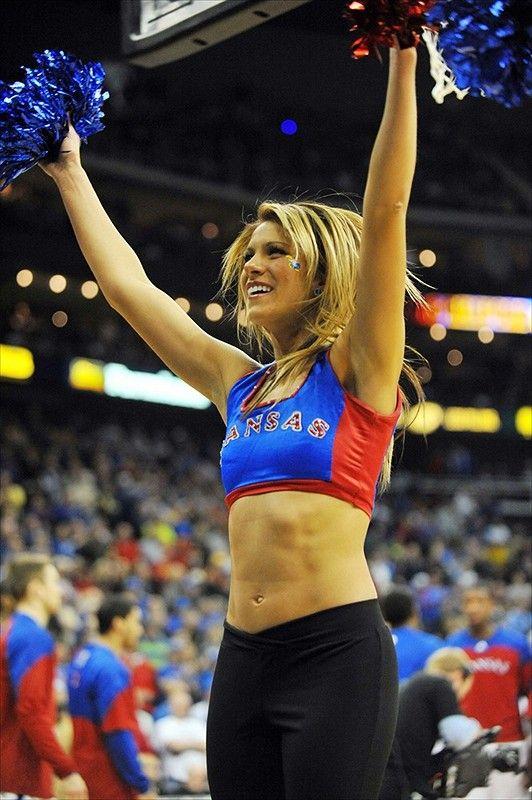 Kansas Jayhawks Cheerleaders Photo Gallery - Gamedayr | Cheerleader girl, Cheerleading, Football cheerleaders