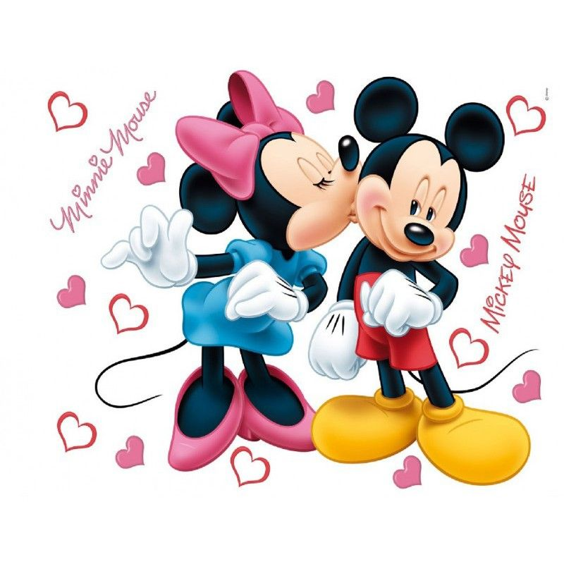 stickers minnie et mickey bisous. Black Bedroom Furniture Sets. Home Design Ideas