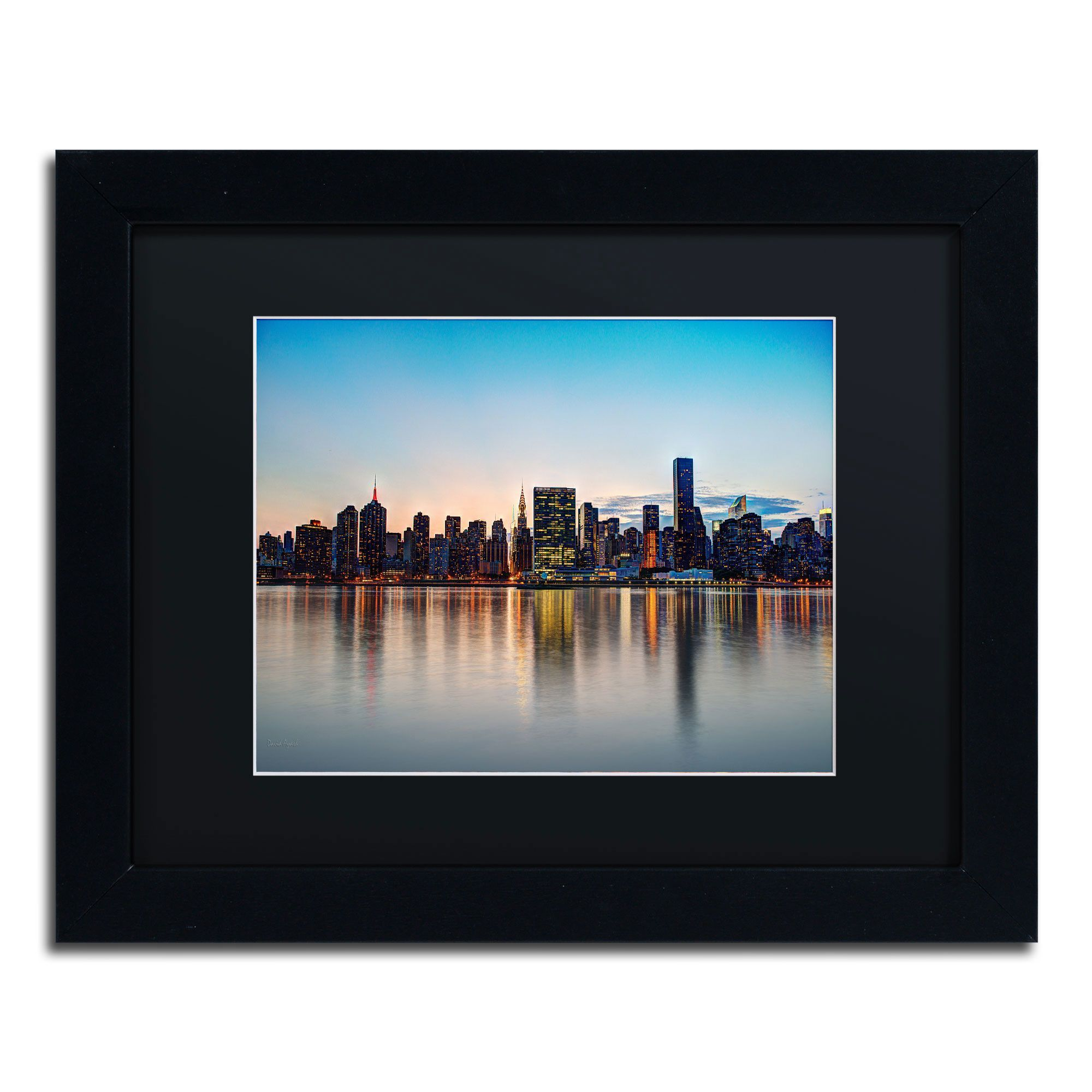 Midtown NYC Over the East River-I\' by David Ayash Framed ...