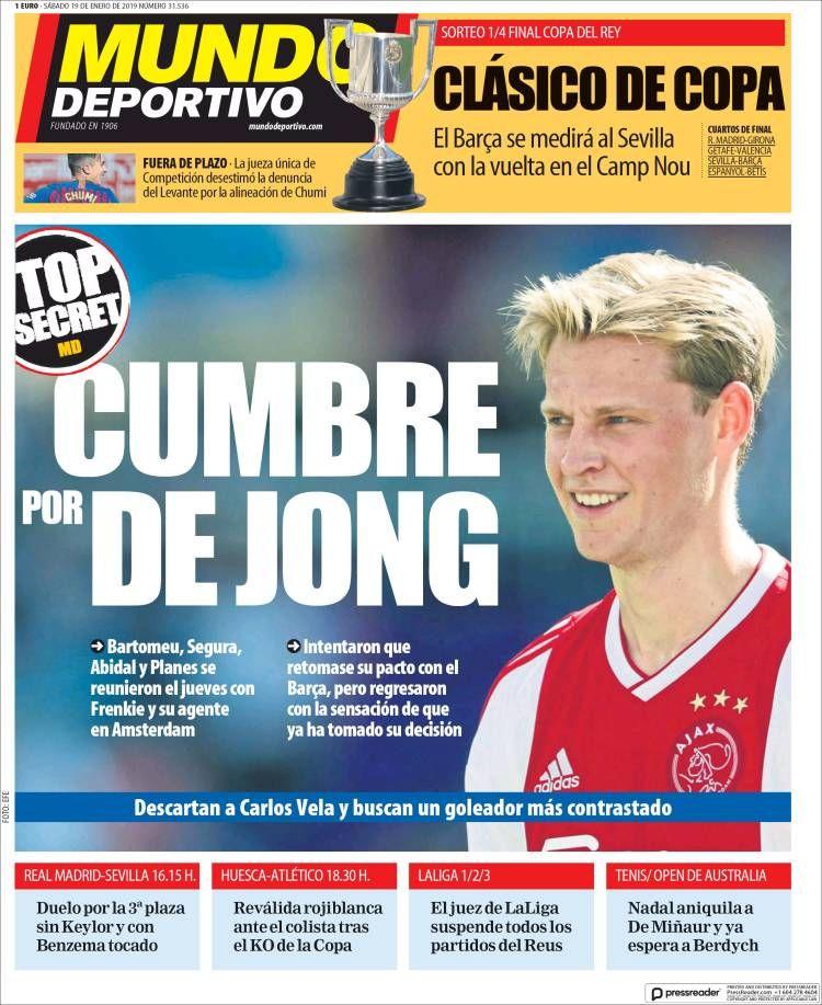 20190119 Portada de El Mundo Deportivo (España