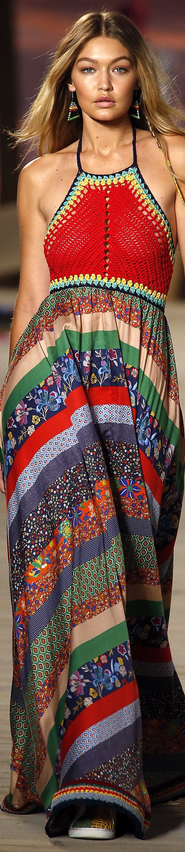 Tommy Hilfiger Spring 2016 Rtw Boho Fashion Ideias Fashion Estilo Boho Croche Fashion