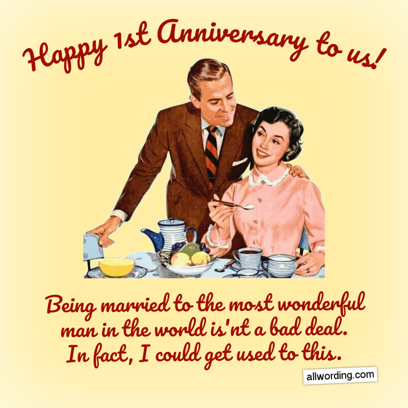 First Anniversary Wishes For a Husband, Wife, or Couple