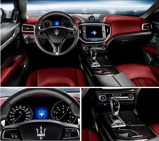 2014 Maserati Quattroporte Interior: 2014 Maserati Ghibli Sedan-Black With Red Interior