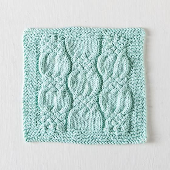 Knotted Cables Washcloth - Free Knitting Pattern | Knits | Pinterest ...