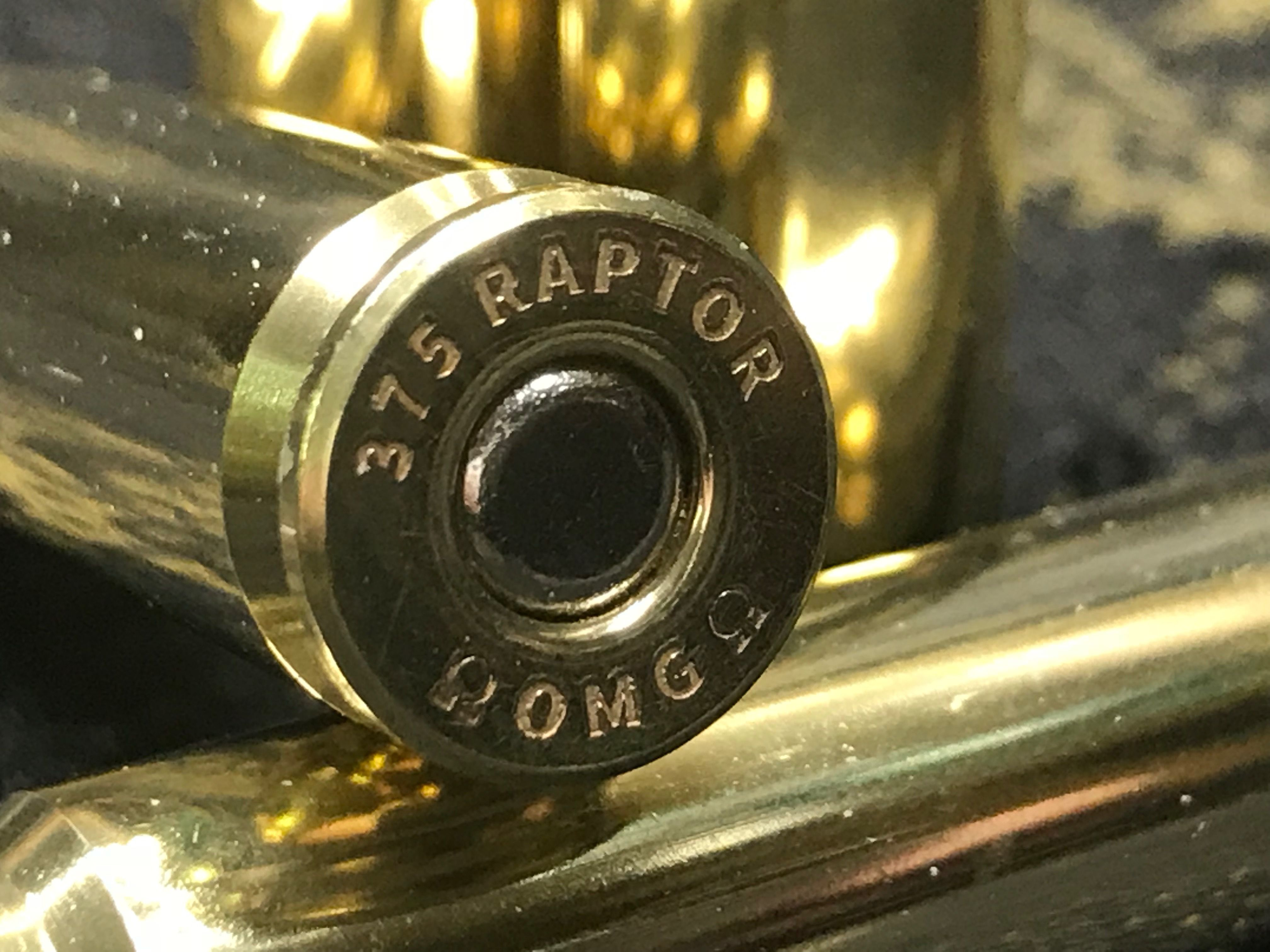 375 RAPTOR new brass courtesy of Omega Rifles | Raptor