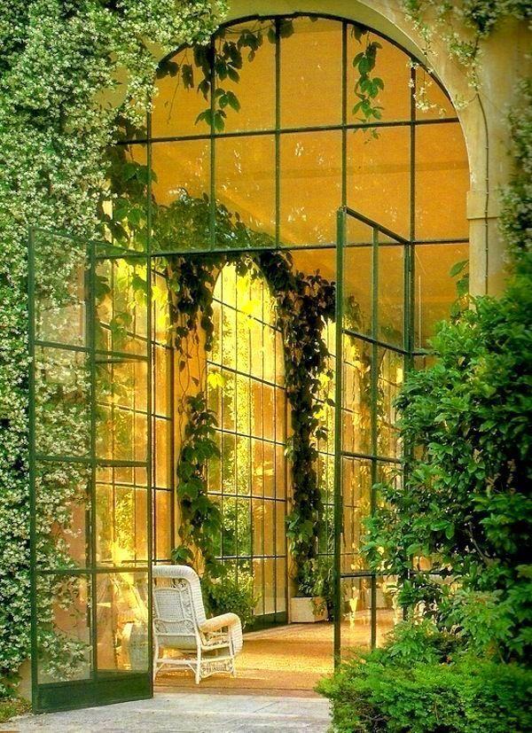 Wintergarten Verglasungen tür Pflanzen Pflege Schattenliebende - tipps pflege pflanzen wintergarten