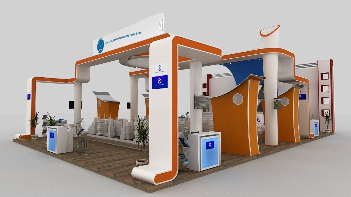 Exhibition Stand 3d Max Download : Exhibition d model exhibitions and booth