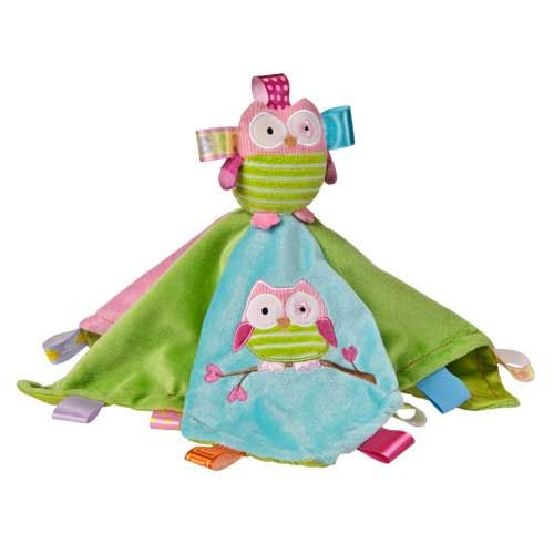 Mary Meyer Taggies Baby Blanket Oodle Owl Character Lovie Security