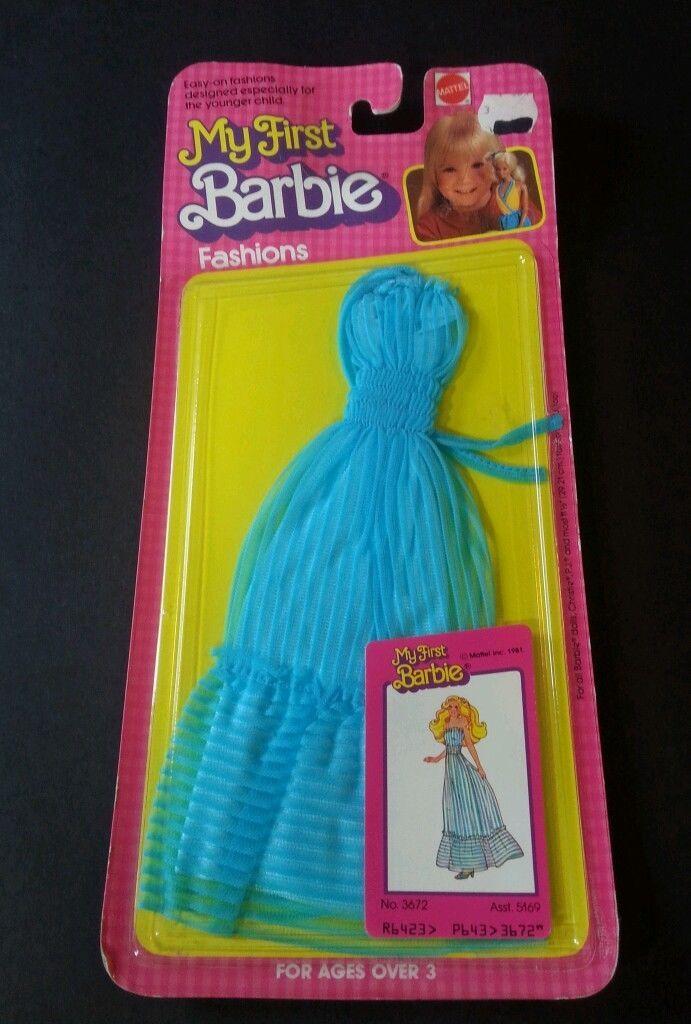 Vintage 1981 Superstar Barbie P J Christie My First Barbie Fashion 3672 Moc Vintage Barbie Dolls Barbie Clothes Vintage Barbie Clothes