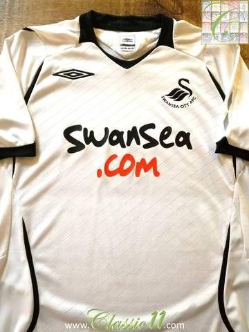 Official Umbro Swansea City home football shirt from the 2008 2009 season. f19f2e29486ab