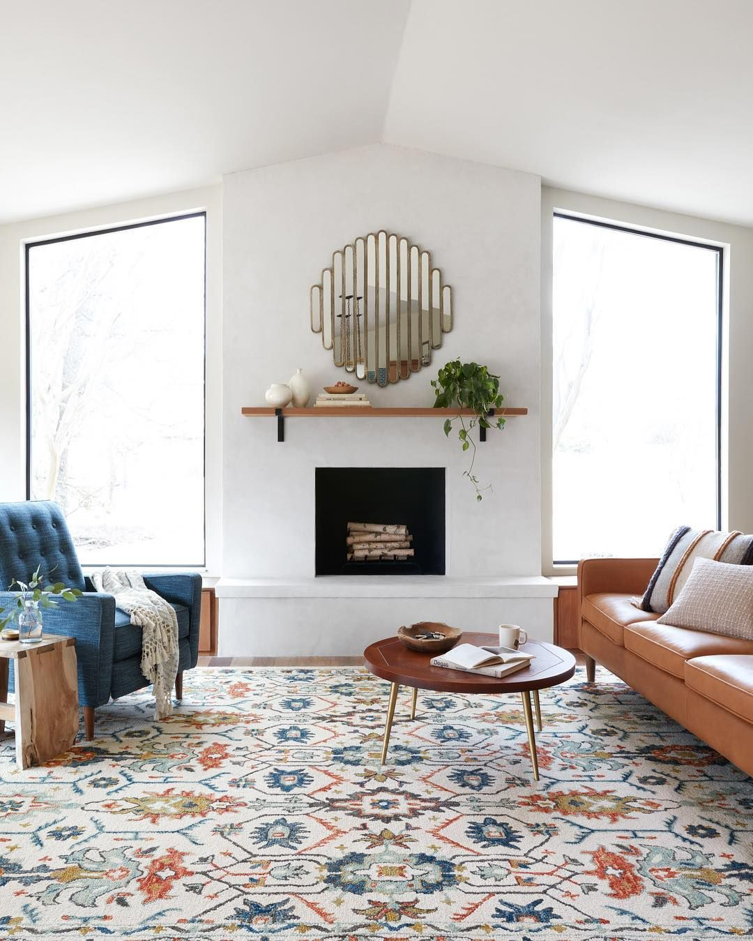 Loloi Rugs On Instagram Friendly Reminder A Little Color Goes A Long Way The Kasuri Col Rugs In Living Room Farm House Living Room Mediterranean Home Decor