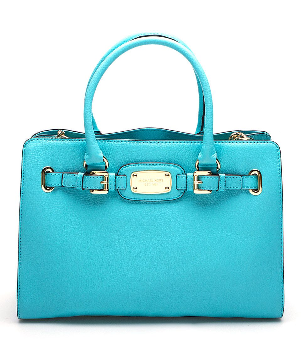 650cd010b2717 MICHAEL Michael Kors Aquamarine Leather Hamilton Large East West Tote by MICHAEL  Michael Kors  zulily  zulilyfinds