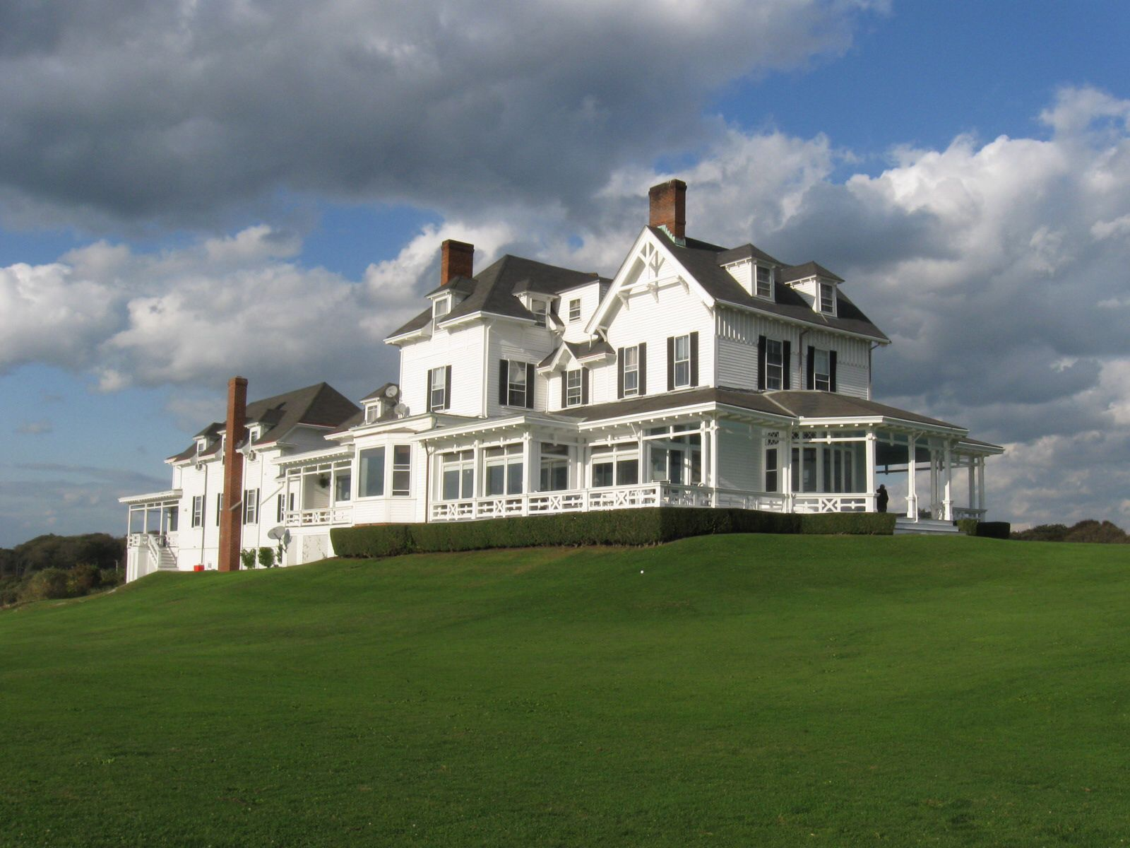 Beach house from the movie Evening. The Ledges, Newport RI