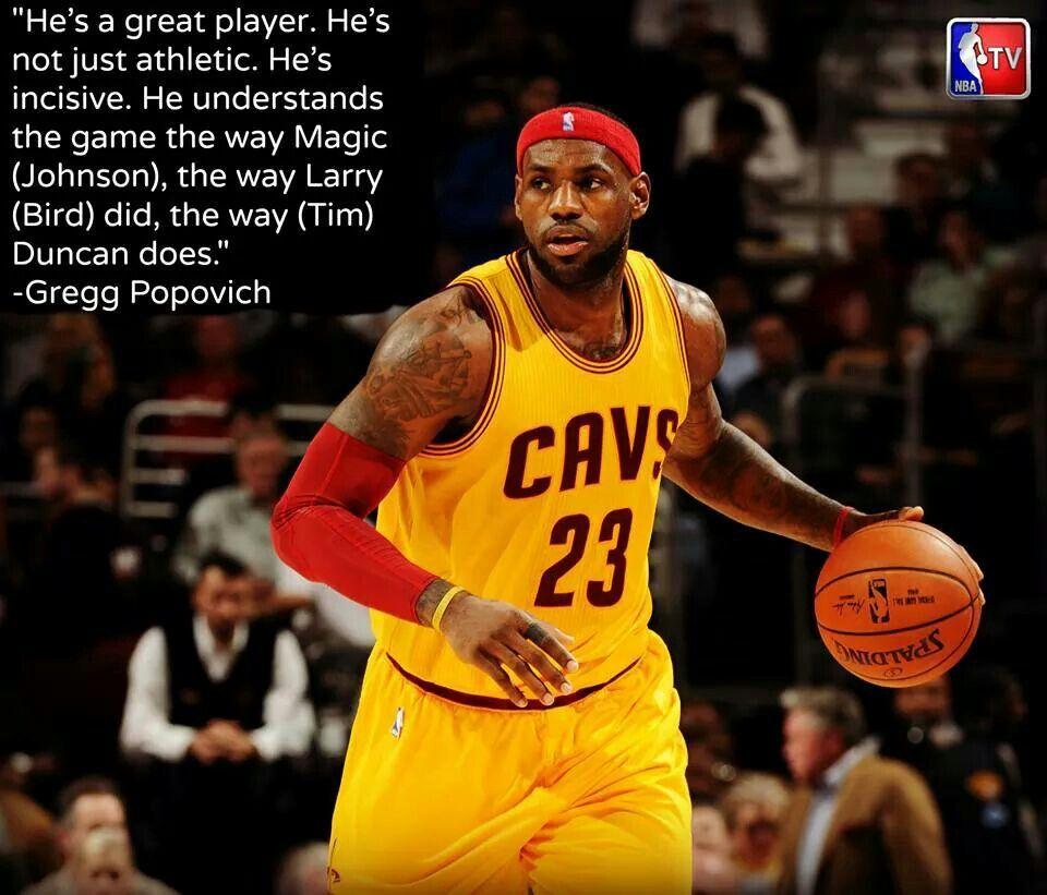 Coach Pop on LeBron James Magic johnson, Lebron james