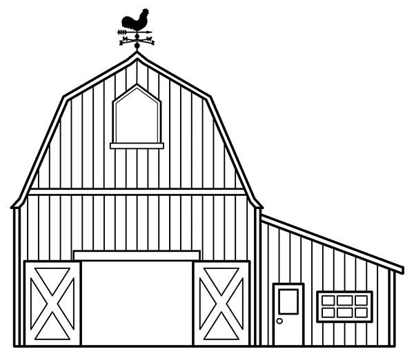 Barn Awesome Draw Of A Barn Coloring Page Awesome Draw Of A Barn
