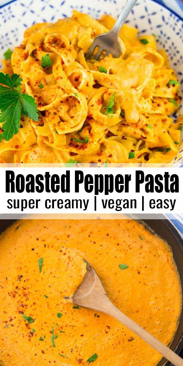 Photo of Vegan Roasted Red Pepper Pasta