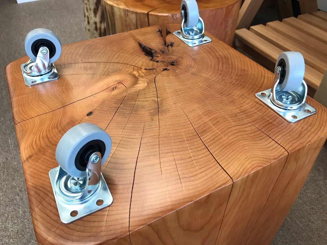Large cube reclaimed solid cypress coffee table with