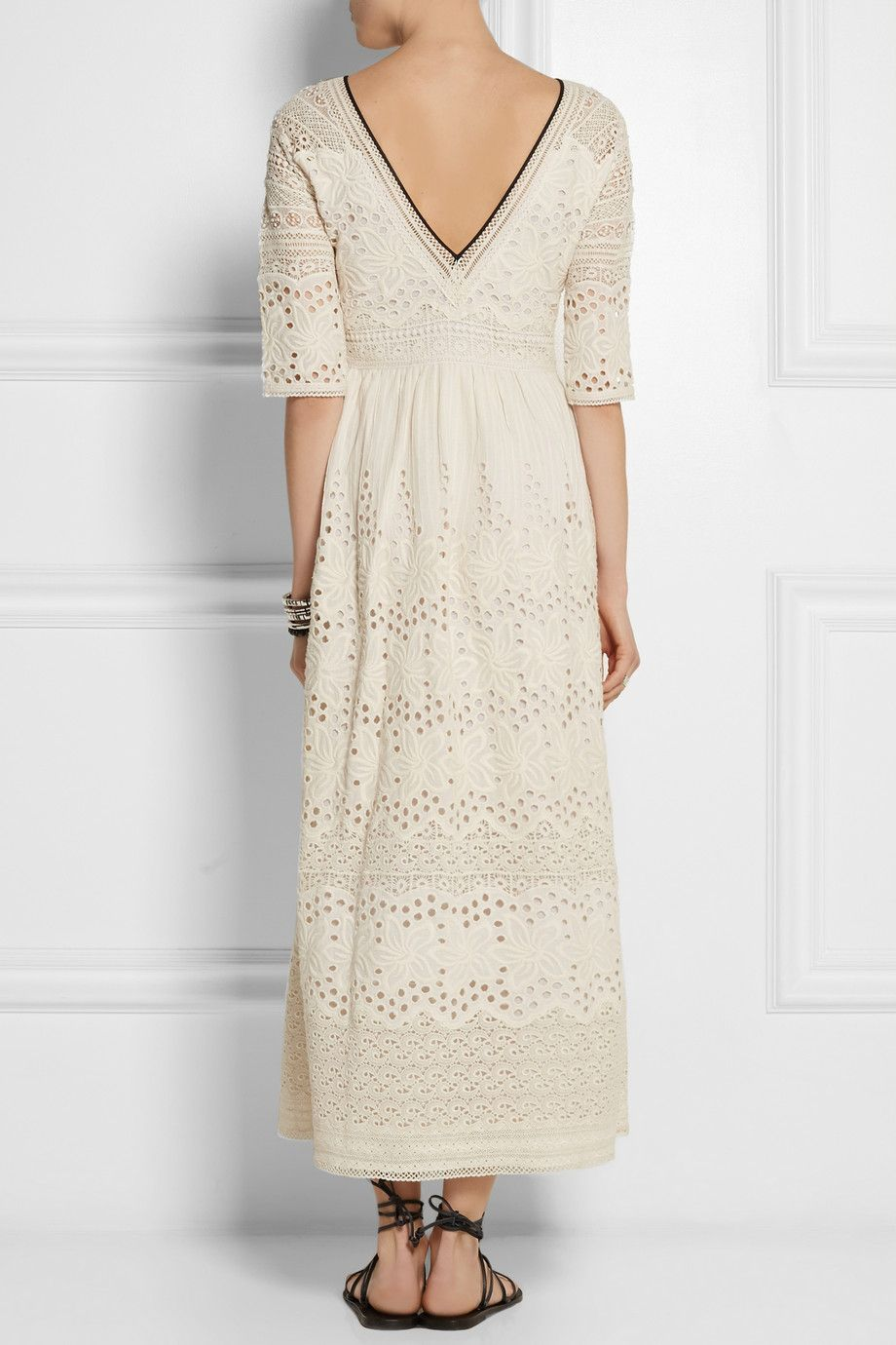 Talitha | Broderie anglaise cotton maxi dress