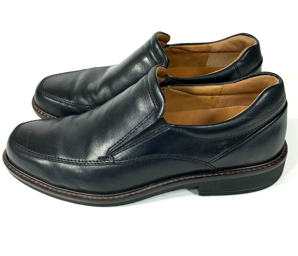 Loafers Dress Shoes Black Leather Slip