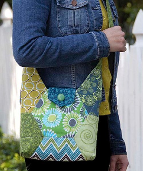 Hexie Hipster Bag sewing pattern by Betz White | Craft Ideas ...