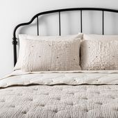 Photo of King Comforter Set Simple Stripe with stitch embroidery Hearth & Hand with Magno…
