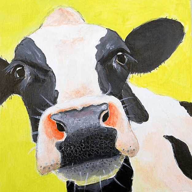 Cow Themed Wall Art Concepts And Colorways Cow Canvas Cow Painting Cow Paintings On Canvas