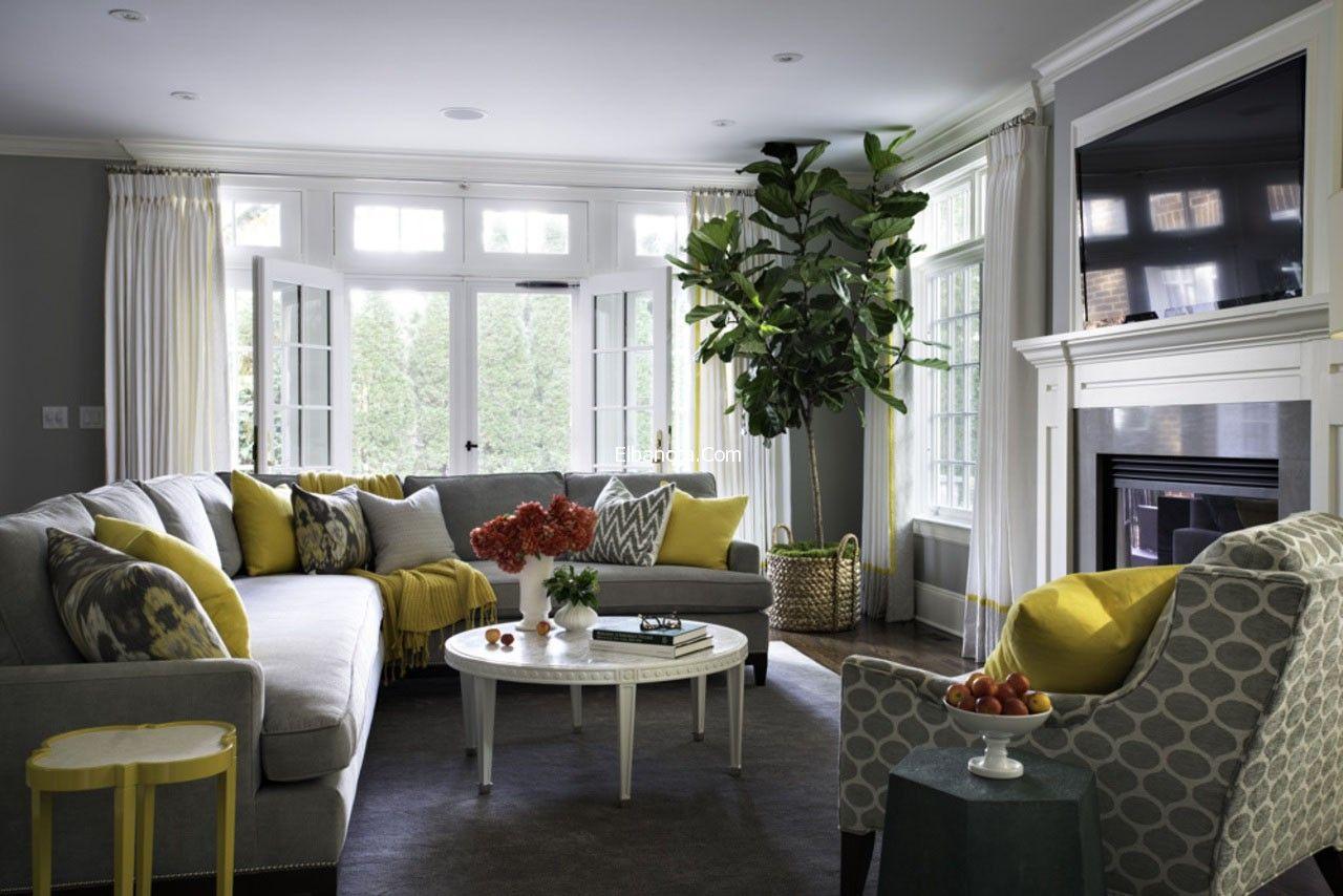 Pin By Sara Bader On Places To Visit Yellow Living Room Living Room Grey Living Room Color