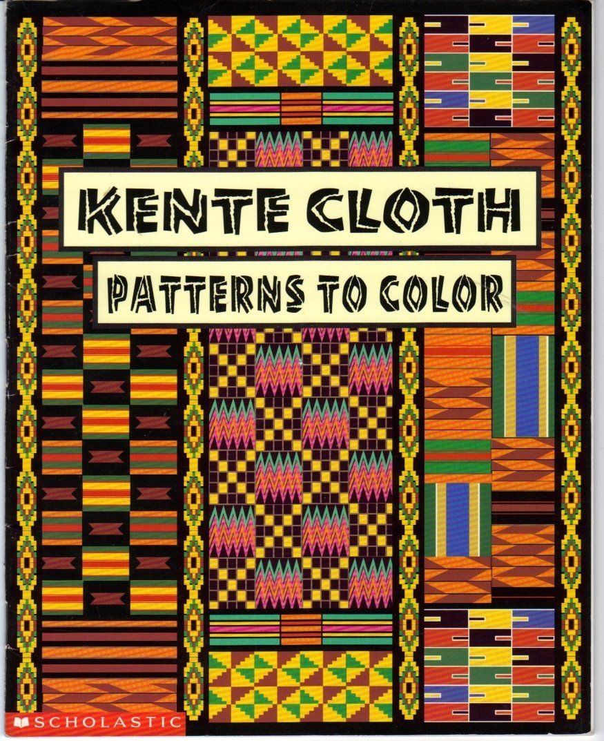 Kente cloth patterns to color