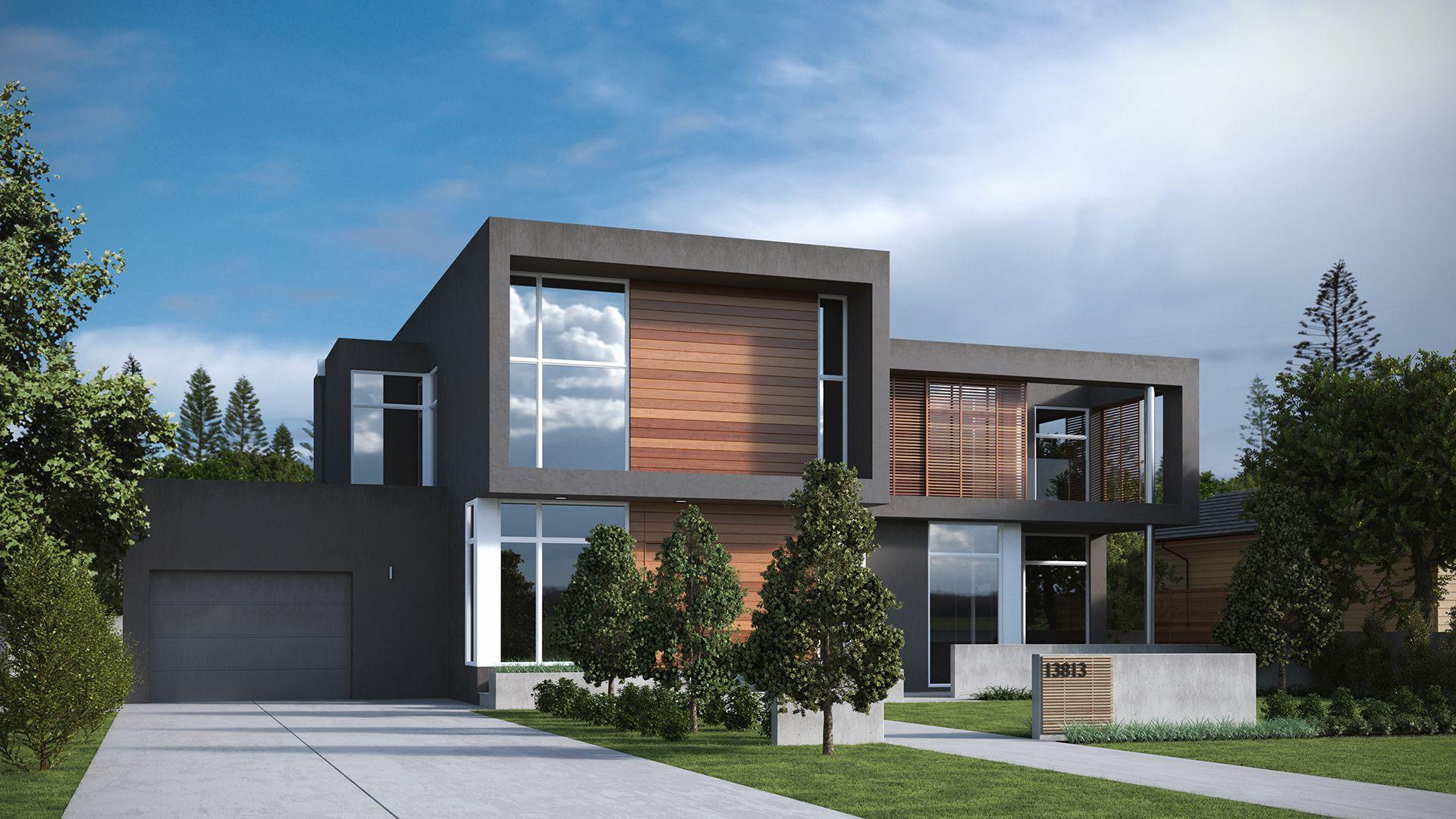 Rendering 3d per la progettazione di casa unifamigliare rendering 3d fotorealistici esterni - Progettazione esterni casa ...