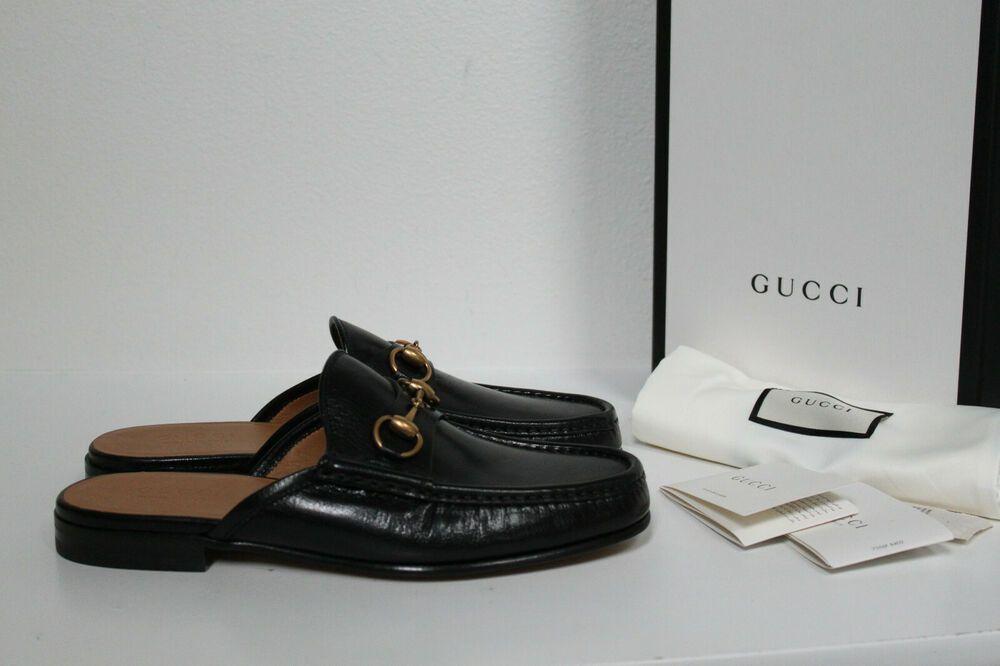 0bf01612188 eBay #Sponsored New sz 9.5 US / 8.5 UK Gucci Horsebit Black Leather Loafer  Mule Slip on MEN Shoe