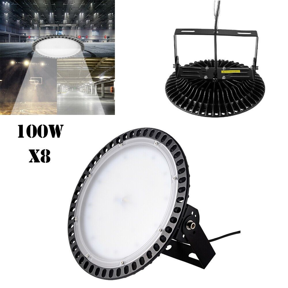 5X 100W Slim UFO LED High Bay Light Industrial Factory Warehouse Shed Lighting