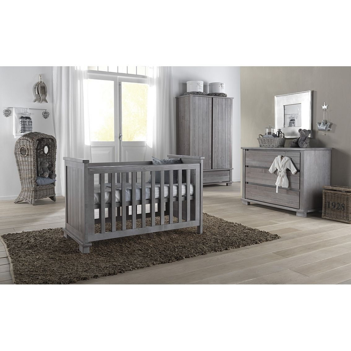 Kidsmill Malmo Smoked Grey Nursery Furniture Set Could Work With This