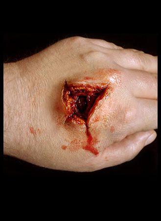 sfx gunshot exit wound made from sculpt gel duke keep moving