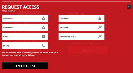 This Is A Request Access Form For Swissconnect Watches Website