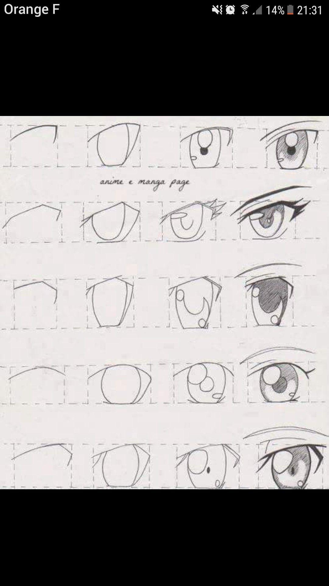 Pin De Manu Em Desenhos De Rostos Olhos Desenho Olhos Manga