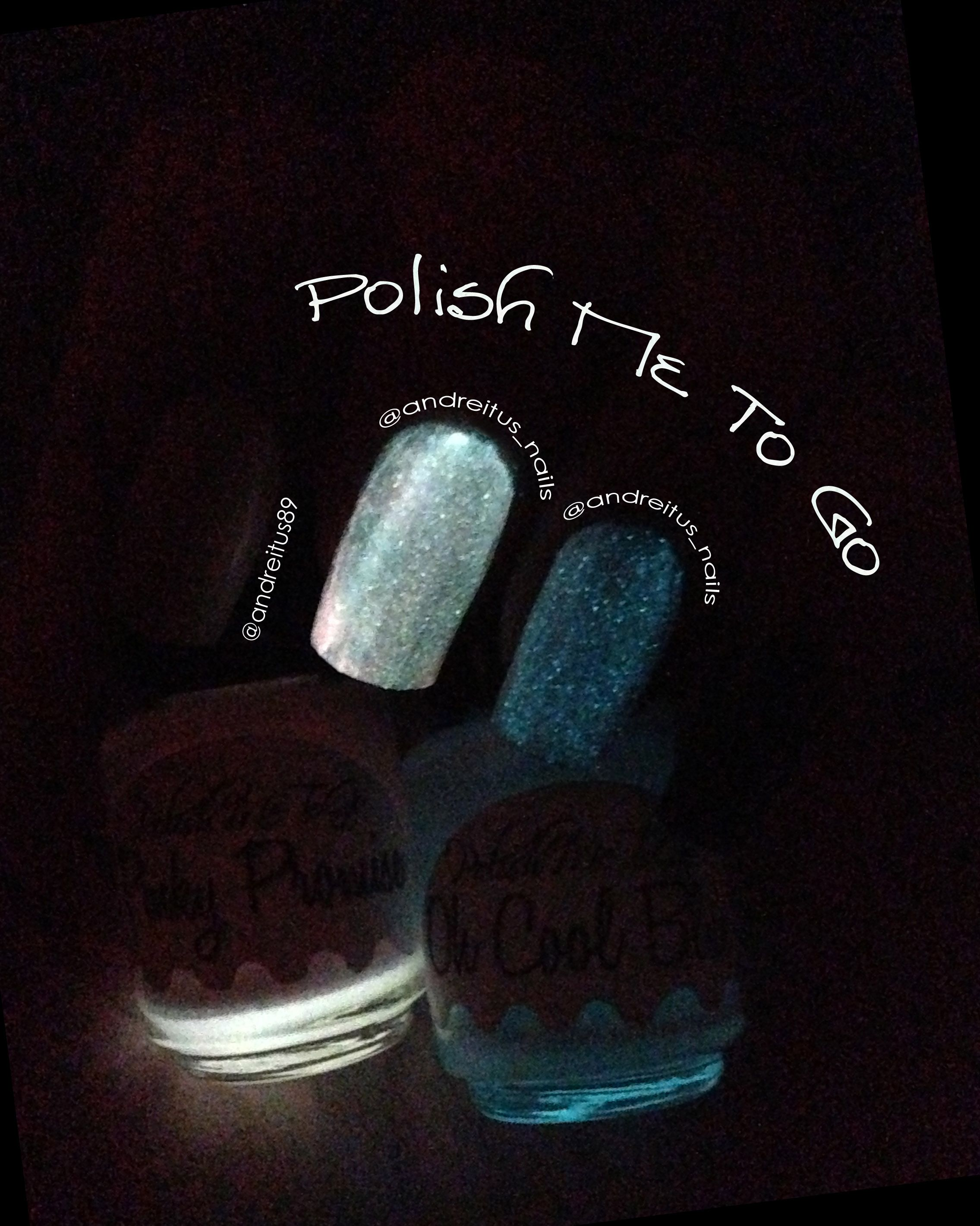 Glow in the dark nails. Glowing polish. Polish me to go. Notd