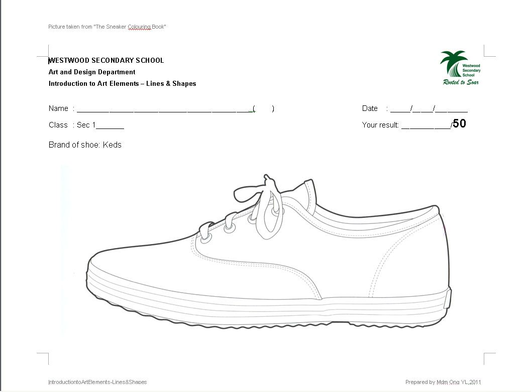 Sec 1 Art Lines Amp Shapes Worksheets