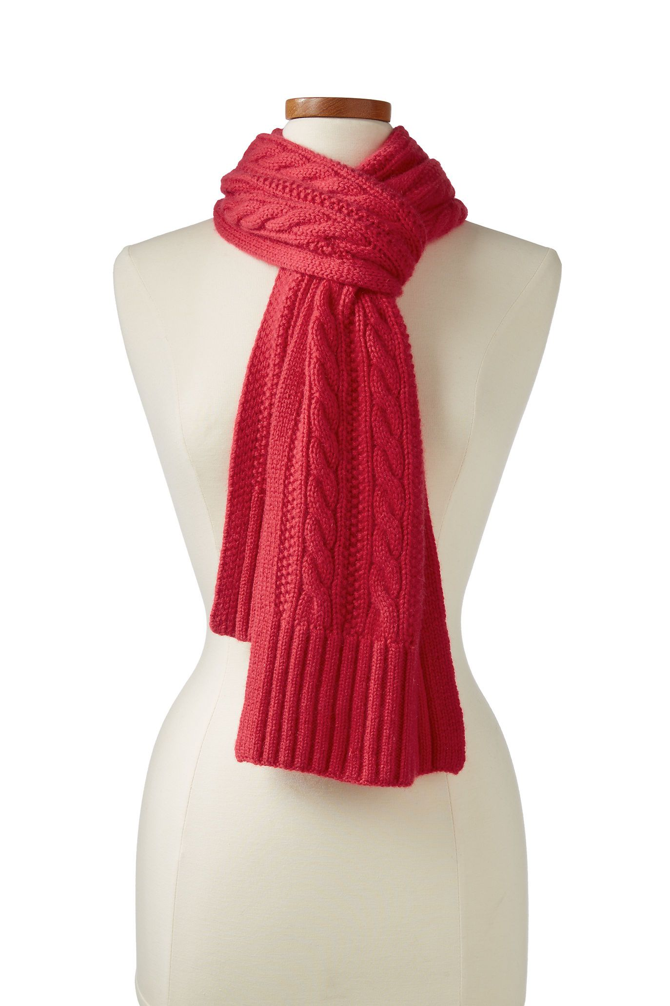 Women's Cashmere Cable Scarf from Lands' End