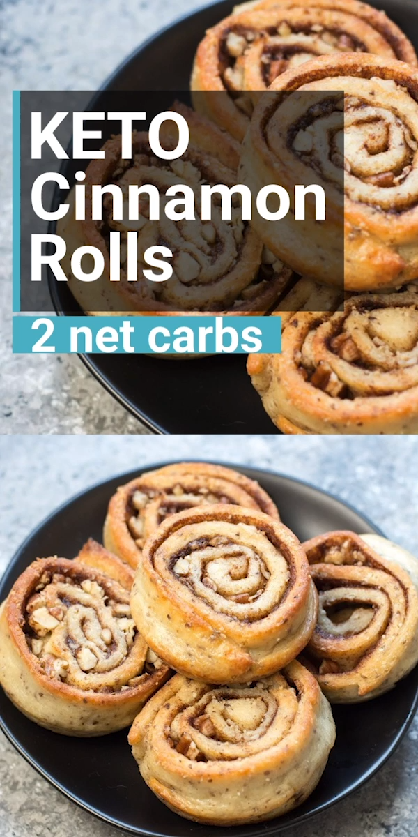 The BEST Keto Cinnamon Rolls