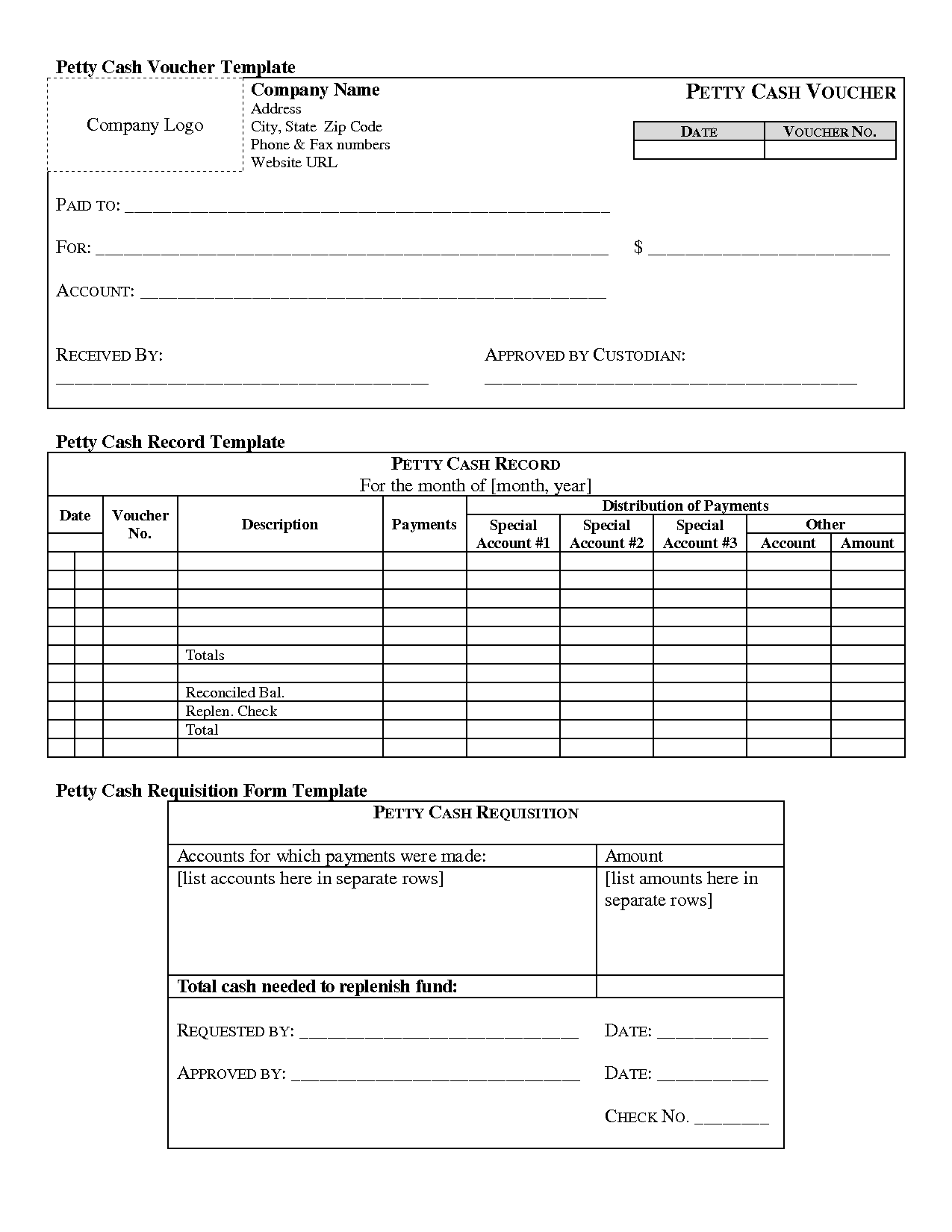 free template receipt form