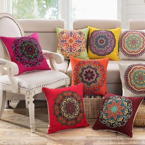 Classic Vintage Round Arc Throw Pillow Case Home Car Seat Decor Cushion Cover | Wish