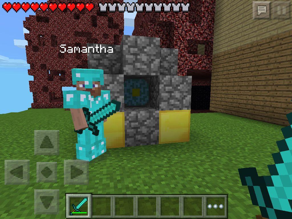 Samantha Making A Nether Portal Minecraft Games